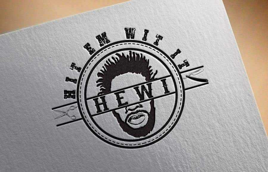 Penyertaan Peraduan #18 untuk I am looking to get a barber logo made. The attached logo has the name attached to it. Hit Em Wit It ((HEWI). I do not want the logo to have any type of fist with it. Just want it to have to do something more with being a barber.