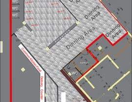#26 za Restaurant floor plan od banigandlapati