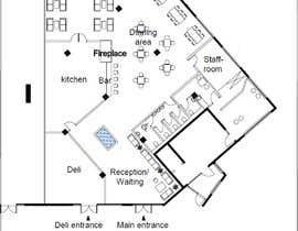 #27 za Restaurant floor plan od HadjerCher