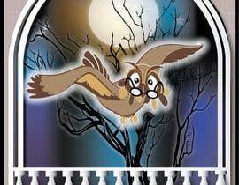 #17 za Funny Looking Owl With Big Eyes In A Dark Environment od ashvinirudrake13