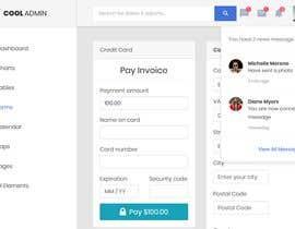 #7 za Website Admin Page Mockup PSD Design od Rozaislam