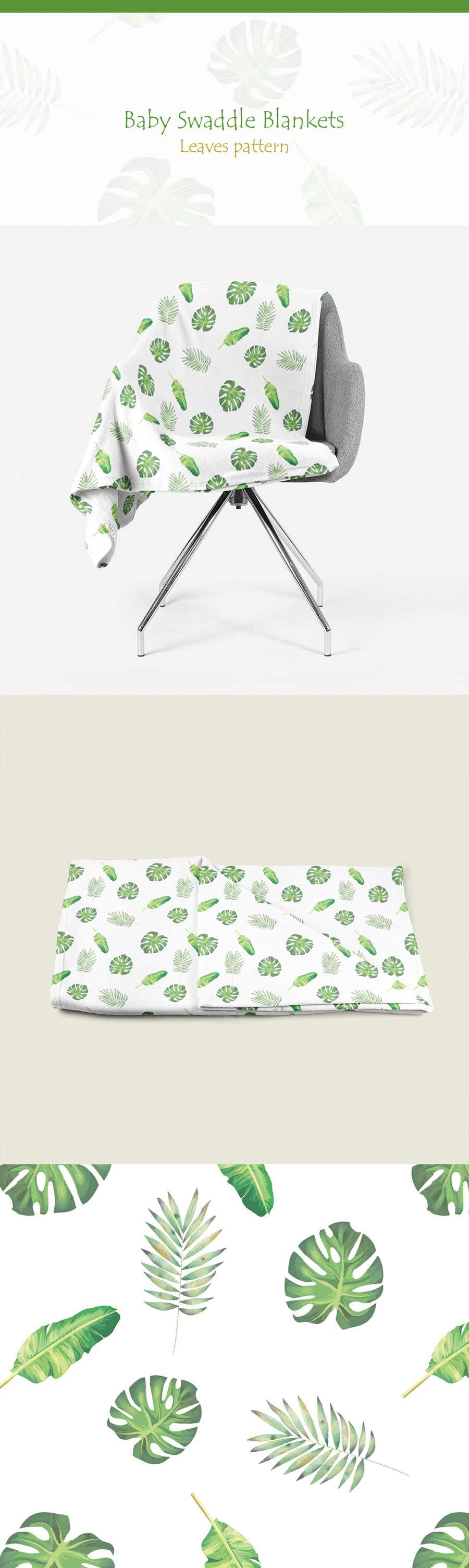 Proposition n°128 du concours Design 3 Baby Swaddle Blankets