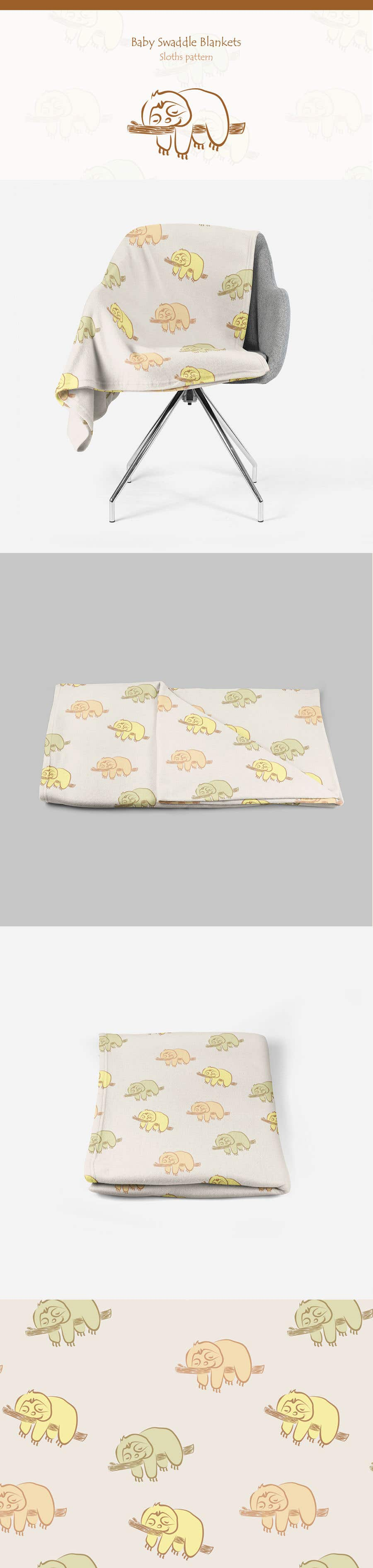Proposition n°130 du concours Design 3 Baby Swaddle Blankets