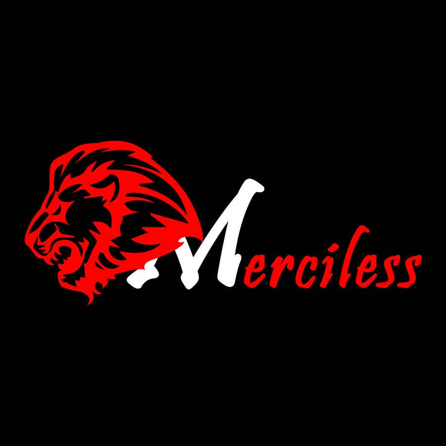 """Intrarea #8 pentru concursul """"new logo design! It must have the word """"Merciless"""", and the word merciless has to be red. I have attached the current logo for the company Merciless Sounds."""""""