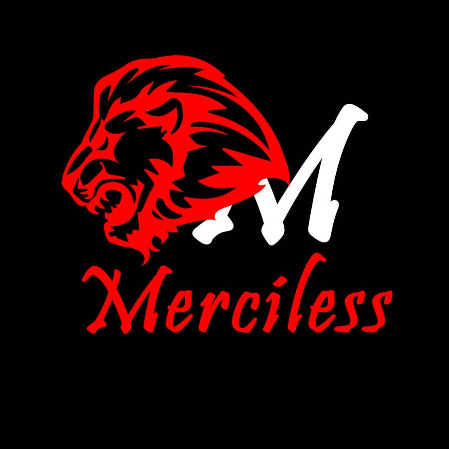 """Intrarea #10 pentru concursul """"new logo design! It must have the word """"Merciless"""", and the word merciless has to be red. I have attached the current logo for the company Merciless Sounds."""""""
