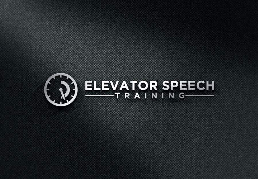"Inscrição nº 125 do Concurso para logo for ""elevator speech training"""