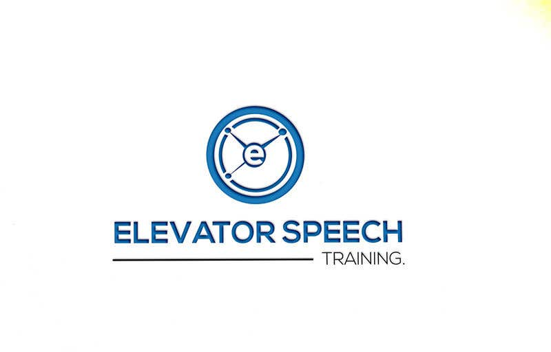 "Inscrição nº 133 do Concurso para logo for ""elevator speech training"""