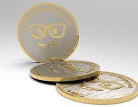 #16 for Design a 3D coin (cryptocurrency) with shiny gold surface and reflections! af bordbar