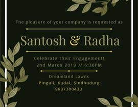 #28 pёr Design an Engagement Card nga alifida23