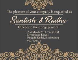 #16 pёr Design an Engagement Card nga bhumishah312