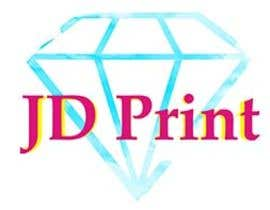 #5 untuk Needing a logo designed with the wording: JD Print. Preferably with the JD in the shape of a diamond oleh ecemozkurt