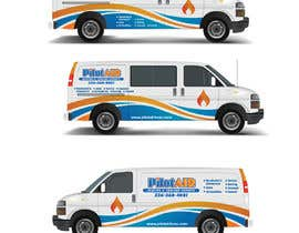 #10 pёr Pilot Air Heating & Cooling Partial Van Wrap design nga Xclusive61