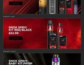 #7 pёr Website Banner for Vape Products nga madartboard