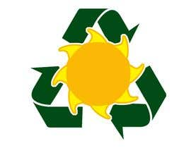#27 pёr Design a logo for a sustainability business. No business name in the logo. It should have 3 green arrows around a yellow conceptualised flaring sun. The sun flare should be in the centre and the flares emerge from behind the green arrows. nga kalenmcinnes