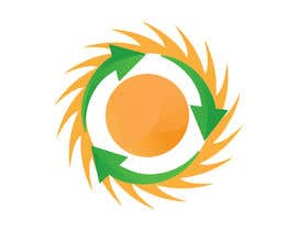 #14 pёr Design a logo for a sustainability business. No business name in the logo. It should have 3 green arrows around a yellow conceptualised flaring sun. The sun flare should be in the centre and the flares emerge from behind the green arrows. nga SaryNass