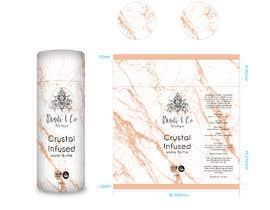 #7 for Cylinder design for crystal infused water bottle af eling88