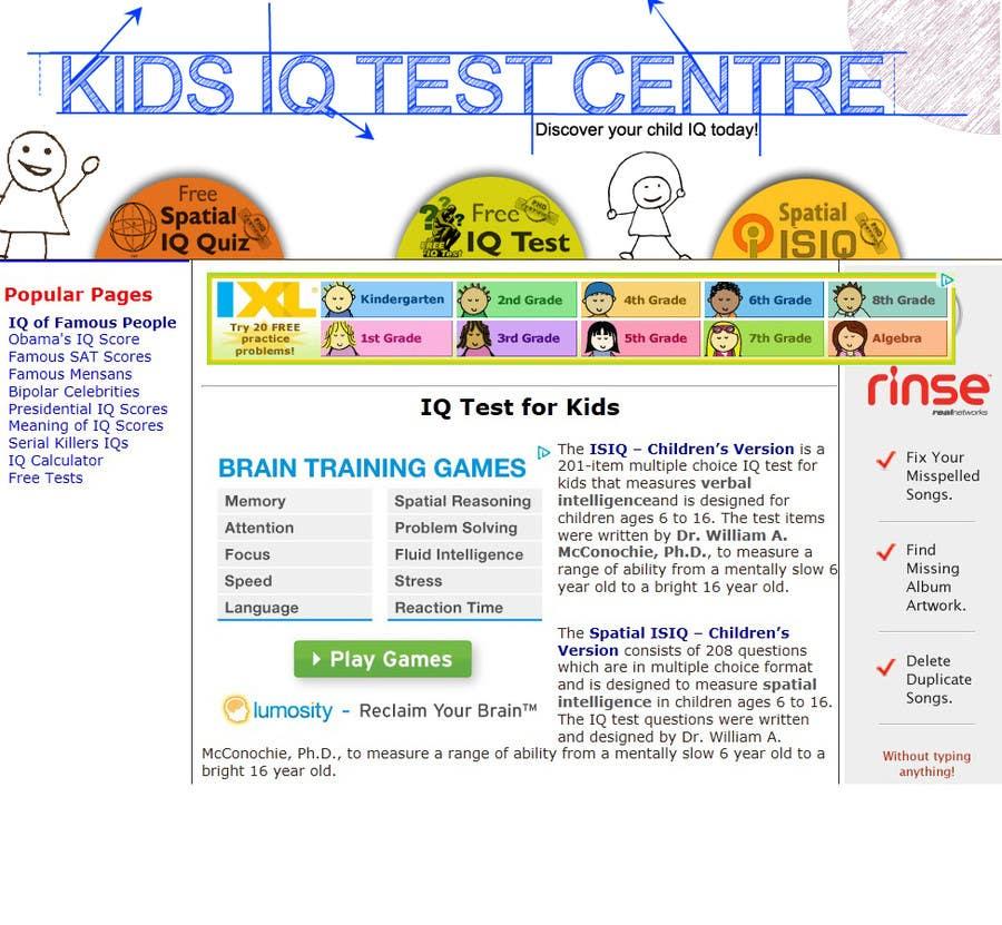 Proposition n°39 du concours Banner Ad Design for Kids IQ Test Center - Winner Gets $100