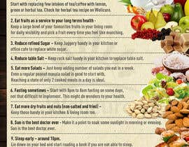 #5 za Design a poster - 10 habits to follow for Natural Health od JohnnyPhotoDes
