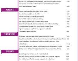 Nro 89 kilpailuun Design/Create funky food menu for bar/restaurant in MS Word käyttäjältä tiaratechies