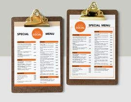 Nro 41 kilpailuun Design/Create funky food menu for bar/restaurant in MS Word käyttäjältä thtoufiq