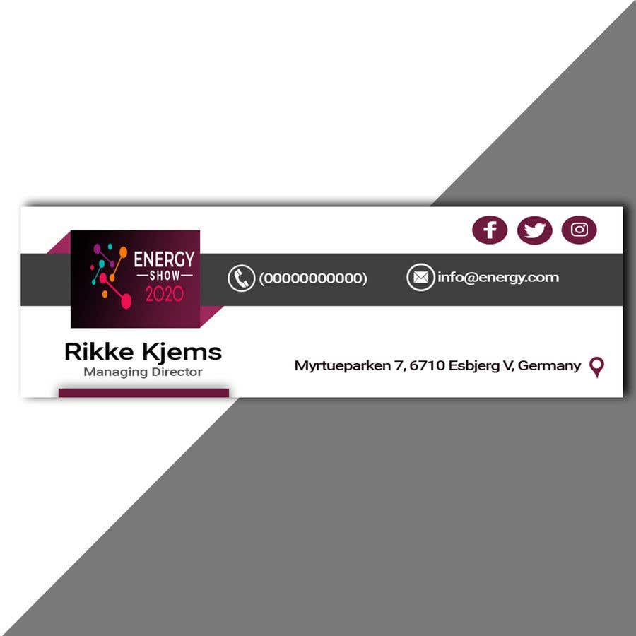 Entri Kontes #813 untukBusiness card and e-mail signature template.