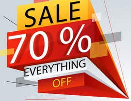 #5 для A Clearance Sale poster of 70% off everything от IrinaAlexStudio