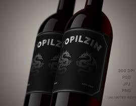 #23 za I need a design for our next wine label. This will be a wine that was almost lost and we brought it back to like. Like a fénix, If you can send how the label would look in the bottle. od DiponkarDas