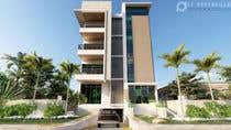 3D Rendering Kilpailutyö #65 kilpailuun Improve 3D Building Exterior - Paint, Windows, Balcony, Entrance, Garden