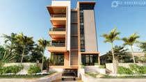 3D Rendering Kilpailutyö #68 kilpailuun Improve 3D Building Exterior - Paint, Windows, Balcony, Entrance, Garden