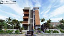 3D Rendering Kilpailutyö #89 kilpailuun Improve 3D Building Exterior - Paint, Windows, Balcony, Entrance, Garden