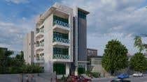 3D Rendering Kilpailutyö #130 kilpailuun Improve 3D Building Exterior - Paint, Windows, Balcony, Entrance, Garden