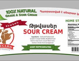 #11 for need a label for sour-cream product by yunitasarike1