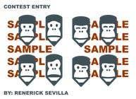 "Graphic Design Intrarea #19 pentru concursul ""Let the gorilla in our logo wink (in GIF)"""