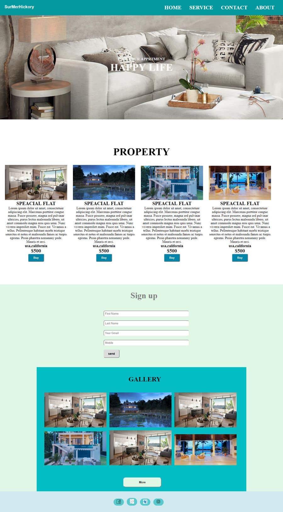 Penyertaan Peraduan #12 untuk Website Design & Layout - 2 Page Design