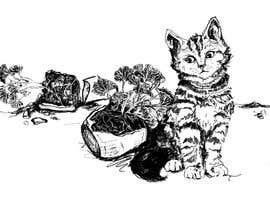 #18 for Illustrate a Cat and Plants on Bottom af vidadesign