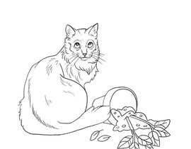 #4 for Illustrate a Cat and Plants on Bottom af KaitlinJWest