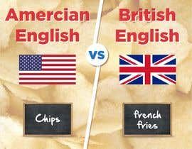 TheDesigner5 tarafından Inforgraphics Design for American English Vs British English Feb 2019 için no 9