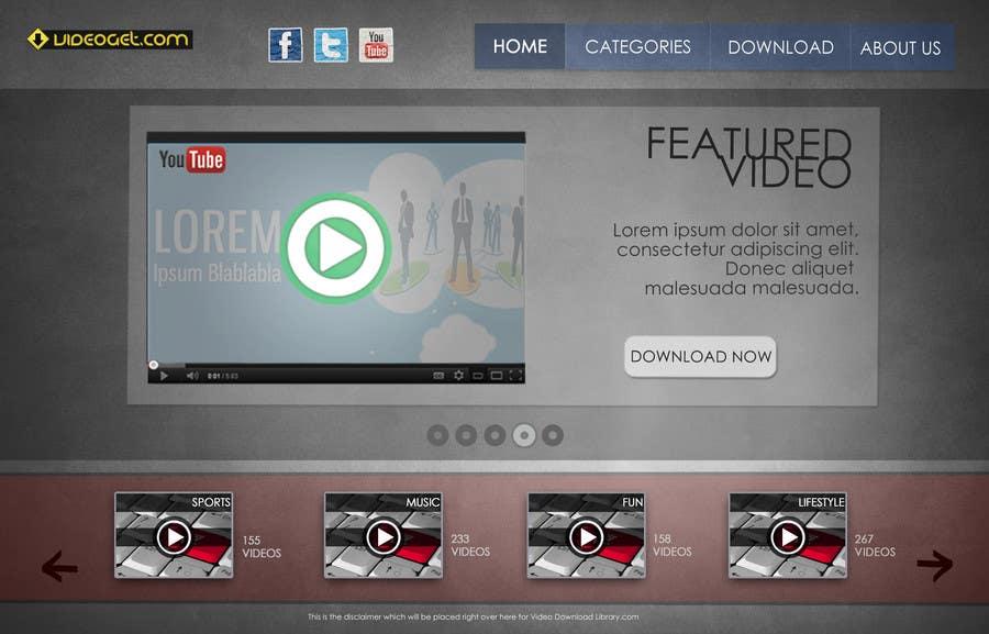 Конкурсная заявка №3 для Website design! (Video download site)