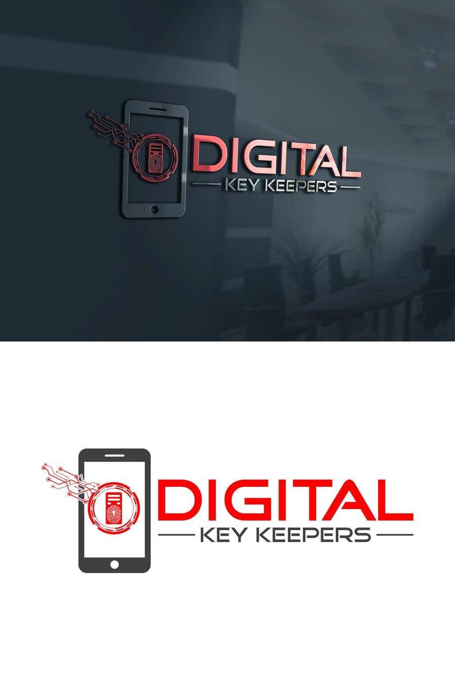 Kilpailutyö #305 kilpailussa Cutting edge logo for   Digital Key Keepers