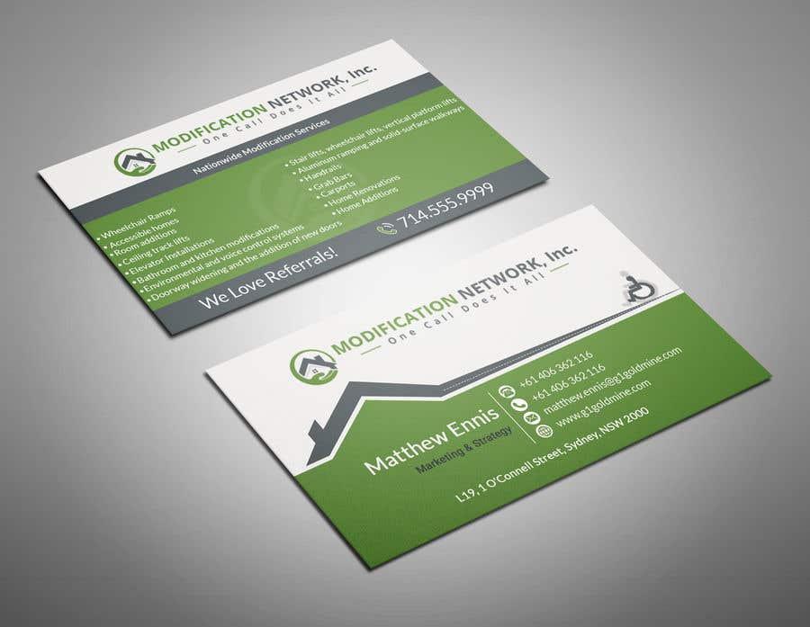 Konkurrenceindlæg #110 for Business card for a handicap home modification construction company