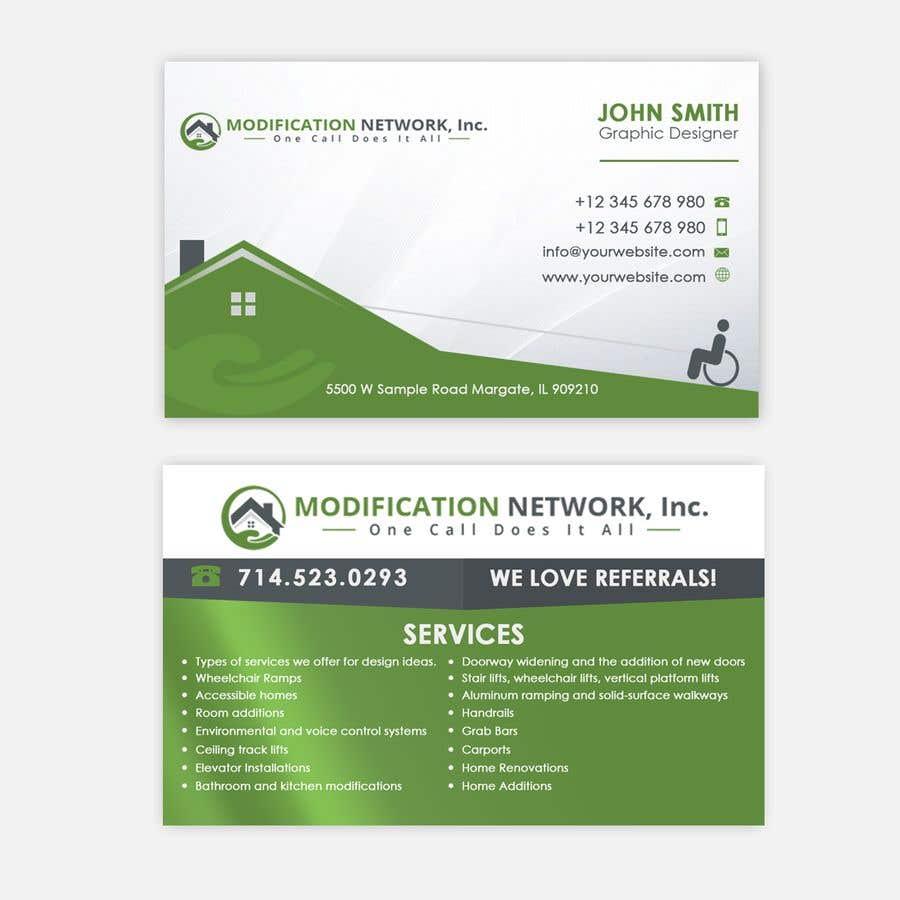 Konkurrenceindlæg #97 for Business card for a handicap home modification construction company