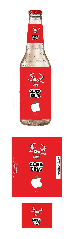 Kilpailutyö #19 kilpailussa Create a label for an apple cider beverage with different flavors