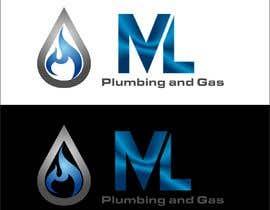Nro 467 kilpailuun company logo design for ML PLUMING AND GAS käyttäjältä achbaro