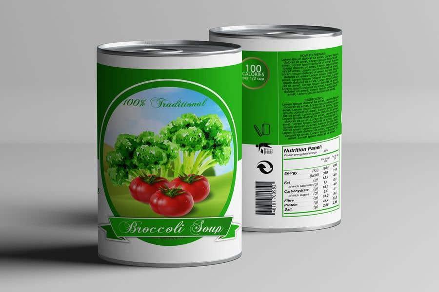 "Intrarea #21 pentru concursul ""I need a logo for a 2D artist. It must be a soup can with a ""Broccoli Soup"" title."""