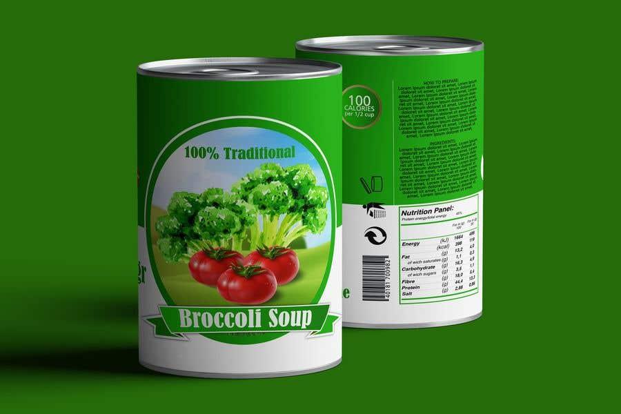 "Intrarea #29 pentru concursul ""I need a logo for a 2D artist. It must be a soup can with a ""Broccoli Soup"" title."""