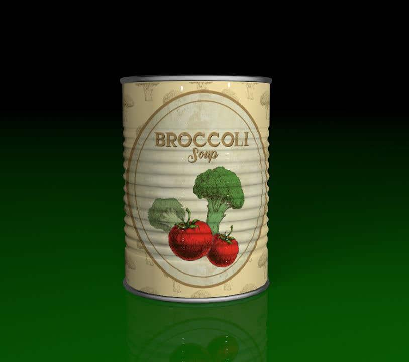 "Intrarea #8 pentru concursul ""I need a logo for a 2D artist. It must be a soup can with a ""Broccoli Soup"" title."""