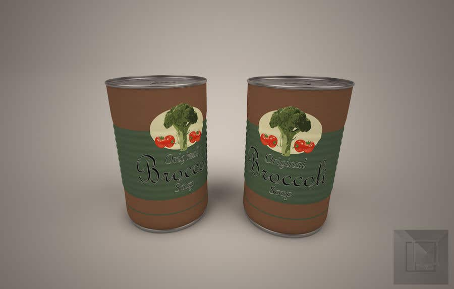 "Intrarea #7 pentru concursul ""I need a logo for a 2D artist. It must be a soup can with a ""Broccoli Soup"" title."""