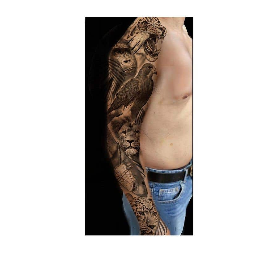 Proposition n°13 du concours I need an artist to draw tattoo sleeves of animals.