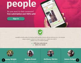 nº 25 pour Design of a landing page for DATING par Wiwastefa