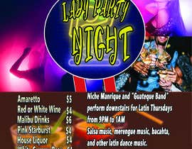 nº 14 pour Flyer for Bar Latin Night & Ladies night par AnassBelgh